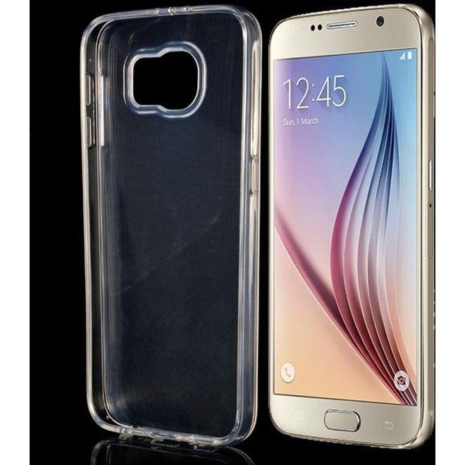 Hoesje geschikt voor Samsung Galaxy S6, gel case, doorzichtig (G9200)