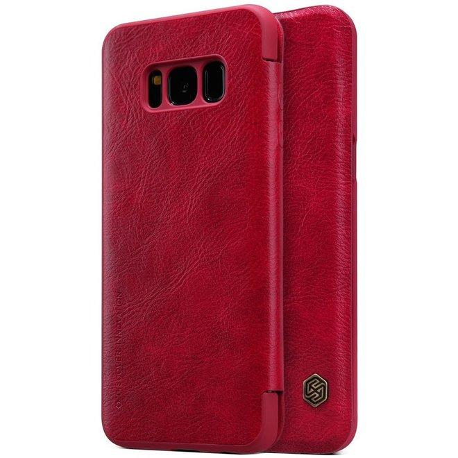 Hoesje geschikt voor Samsung Galaxy S8, Nillkin Qin series bookcase, rood