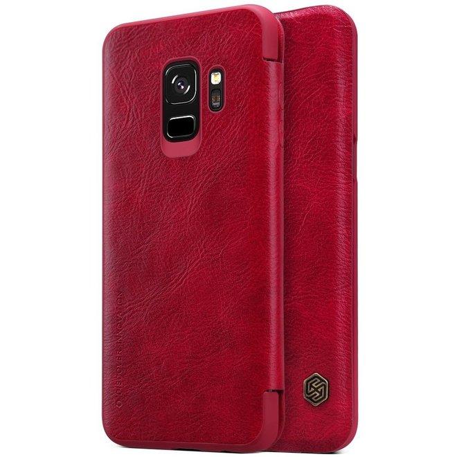 Hoesje voor Samsung Galaxy S9, Nillkin Qin series bookcase, rood