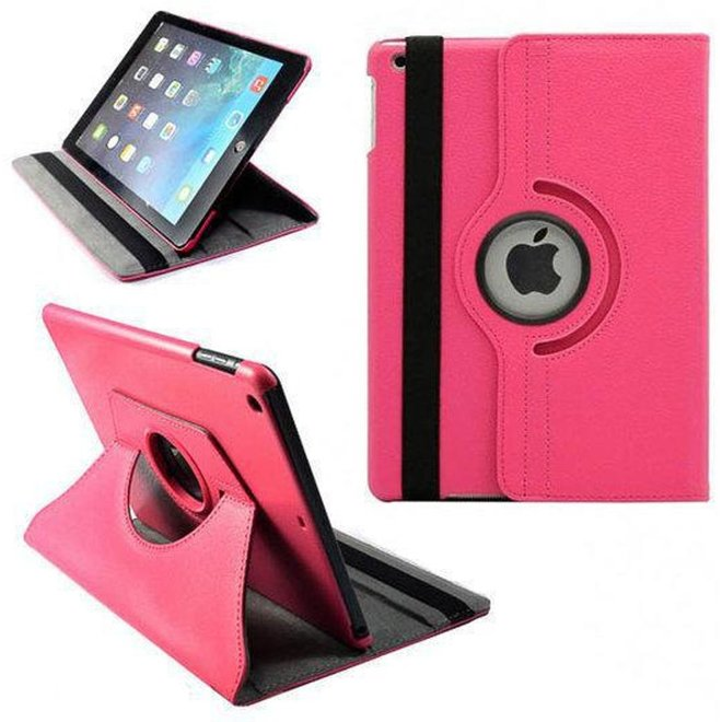 360 graden draaibare hoes Cover Stand Sleep Wake Pink/Roze voor Apple iPad Air 1