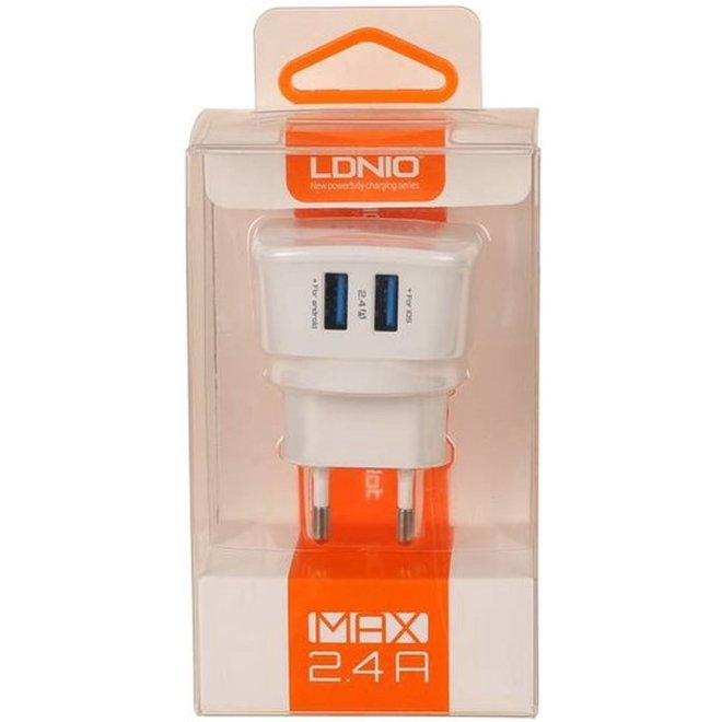 LDNIO 2x USB Oplader 2.4A