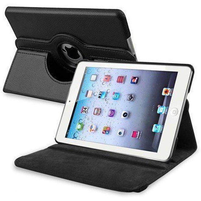 iPad Mini 2 Hoes Cover Multi-stand Case  360 graden draaibare Beschermhoes Zwart