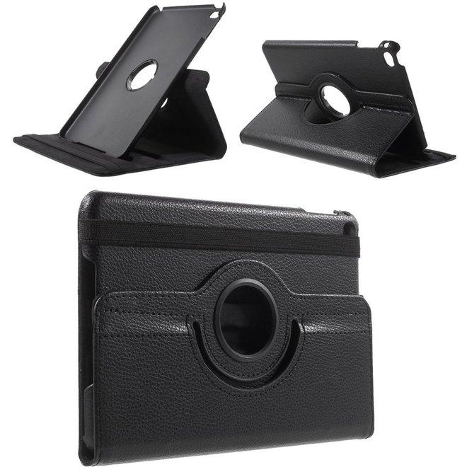 Apple iPad Mini 4 Hoesje Zwart, 360 graden draaibaar standaard