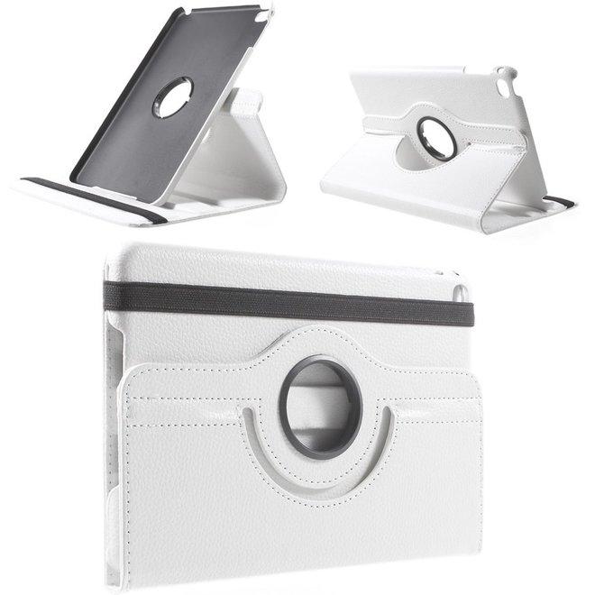 Apple iPad Mini 4 Hoesje Wit, 360 graden draaibaar standaard