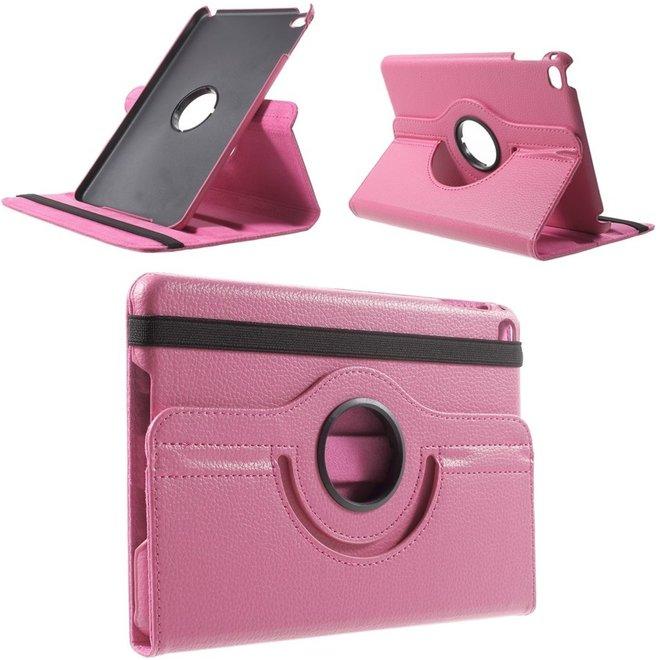 Apple iPad Mini 4 Hoesje Roze, 360 graden draaibaar standaard