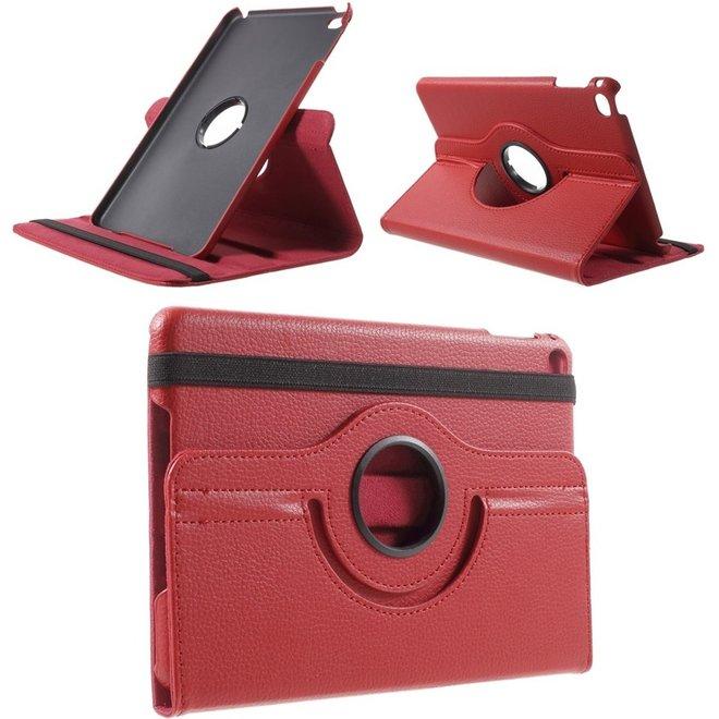 Apple iPad Mini 4 Hoesje Rood, 360 graden draaibaar standaard