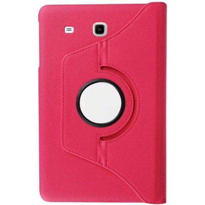 Samsung Galaxy Tab E 9.6 Hoesje Roze, 360 graden Draaibaar
