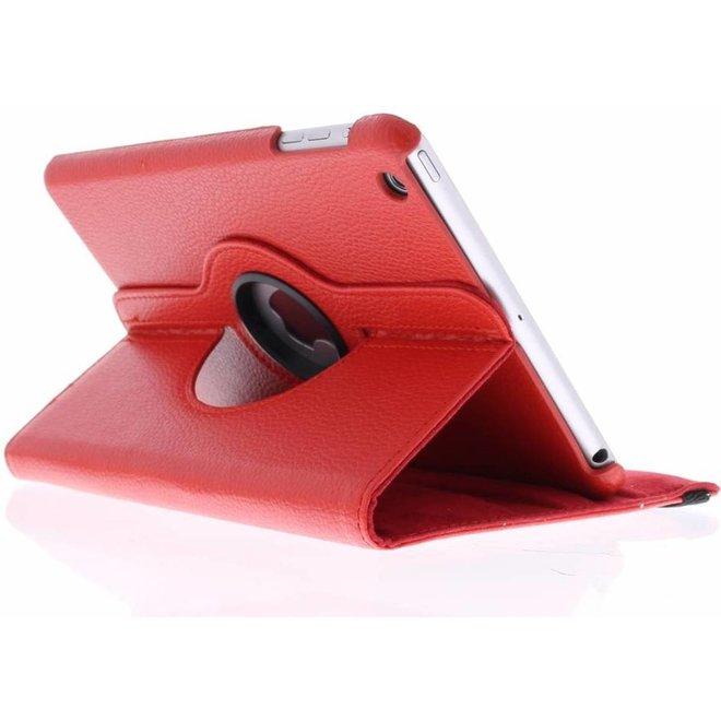 360 graden Draaibare Bookcase iPad Mini / 2 / 3 tablethoes - Rood