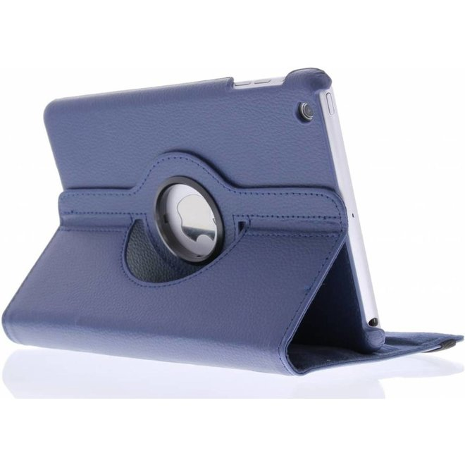 360 graden Draaibare Bookcase iPad Mini / 2 / 3 tablethoes - Blauw