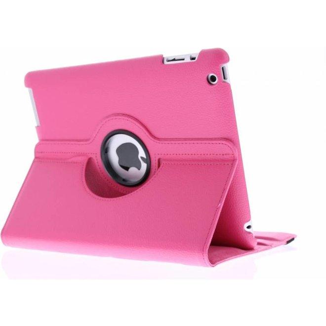 Roze 360 graden draaibare iPad 2/3/4 hoes