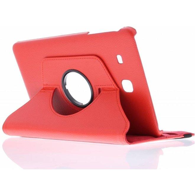 360° Draaibare Bookcase Samsung Galaxy Tab E 9.6 tablethoes - Rood