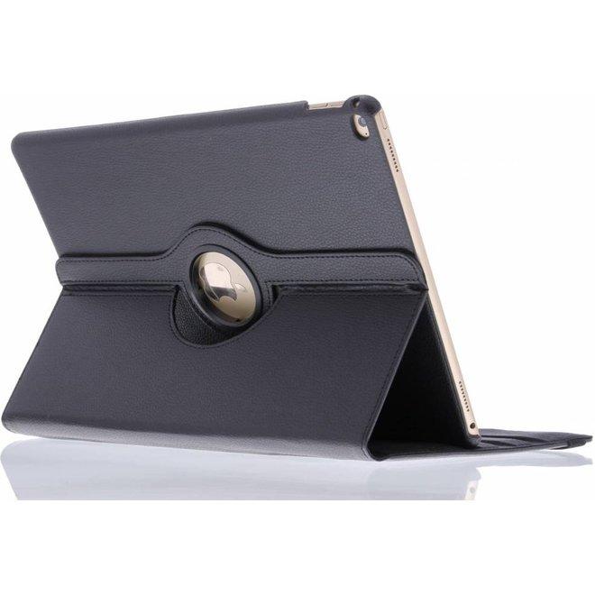 360° Draaibare Bookcase iPad Pro 12.9 tablethoes - Zwart