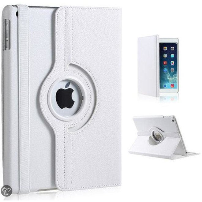 iPad Air Hoes Cover Multi-stand Case 360 graden draaibare Beschermhoes Wit