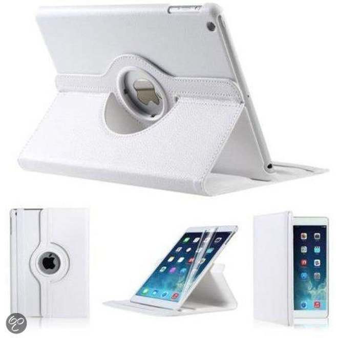 iPad Mini 1 2 en 3 Hoes Cover Multi-stand Case 360 graden draaibare Beschermhoes Wit
