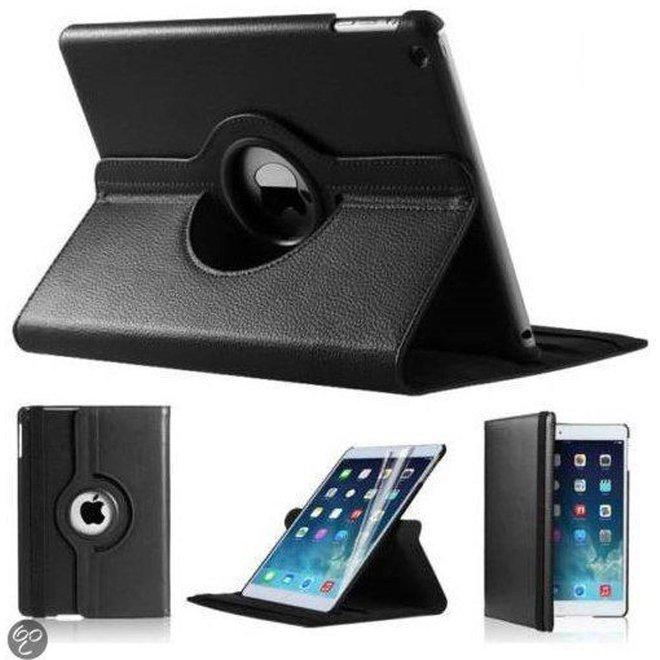 iPad Mini 1 2 en 3 Hoes Cover Multi-stand Case 360 graden draaibare Beschermhoes Zwart
