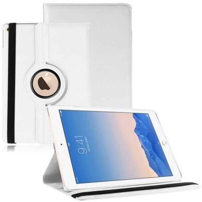 iPad Air 2 beschermhoes- Multi-stand Case 360 graden draaibare-  Beschermhoes Wit