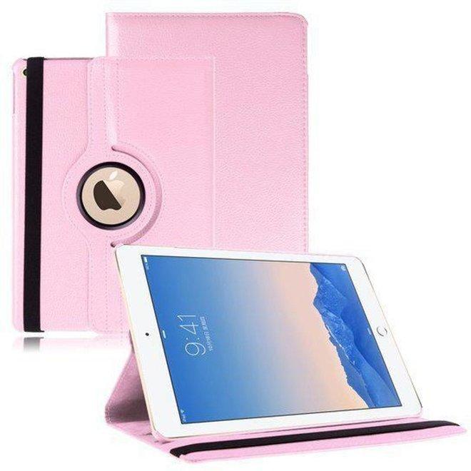 iPad Air 2 Beschermhoes- Multi-stand Case 360 graden draaibare - Beschermhoes licht roze