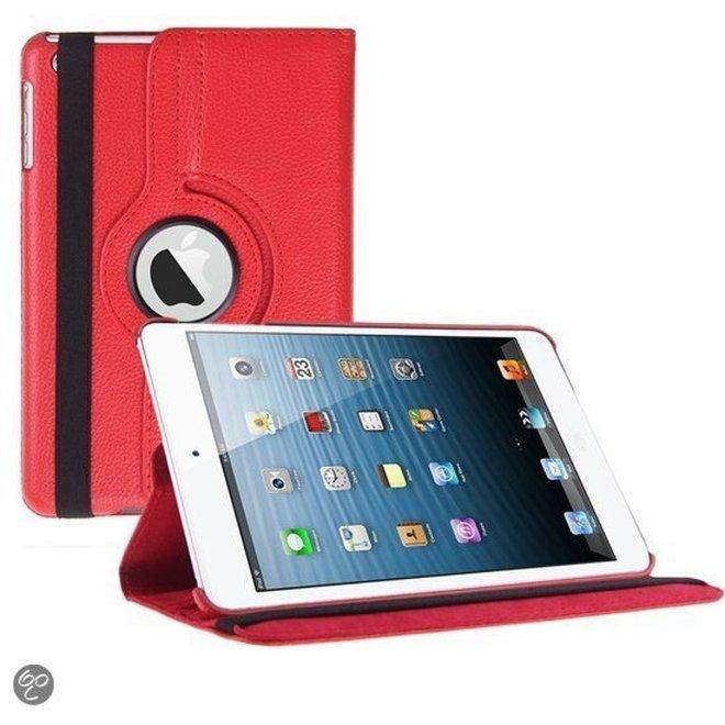 iPad Mini 1 2 en 3 Hoes Cover Multi-stand Case 360 graden draaibare Beschermhoes rood