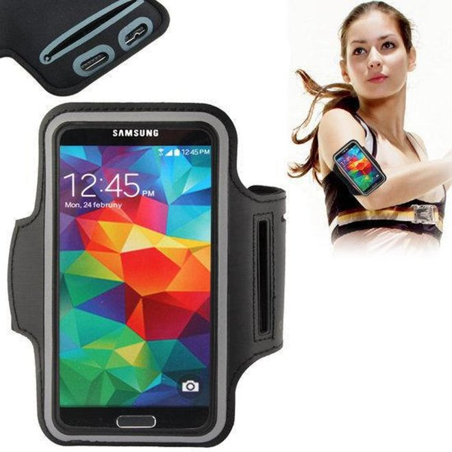 Sportband Samsung Galaxy S5 G900F hardloop sport armband met reflectie