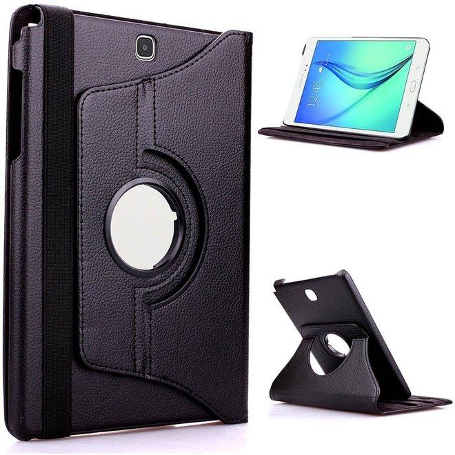 Samsung Galaxy Tab A 9.7 Hoes Cover 360 graden draaibare Case zwart