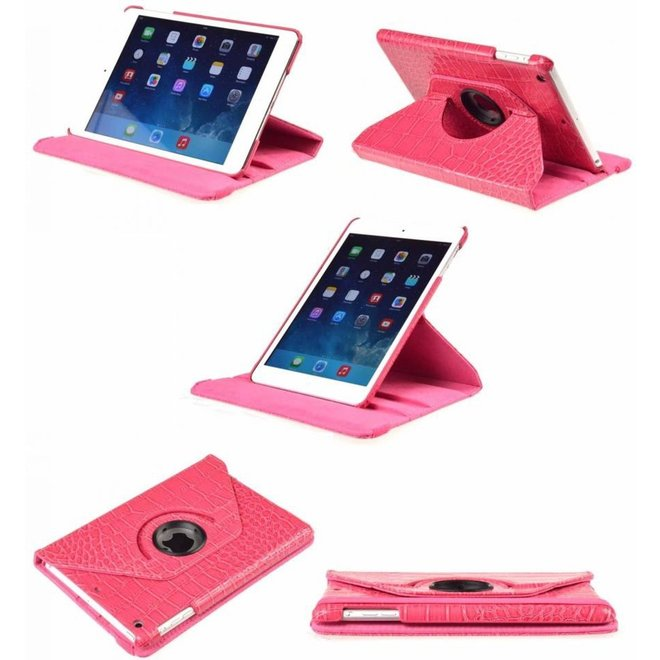 UNIQ Accessory 360 Rotating cover case voor Apple iPad Mini - Croco Donker Roze