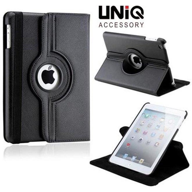 iPad Air Hoes Cover Multi-stand Case 360 graden draaibare Beschermhoes - Zwart