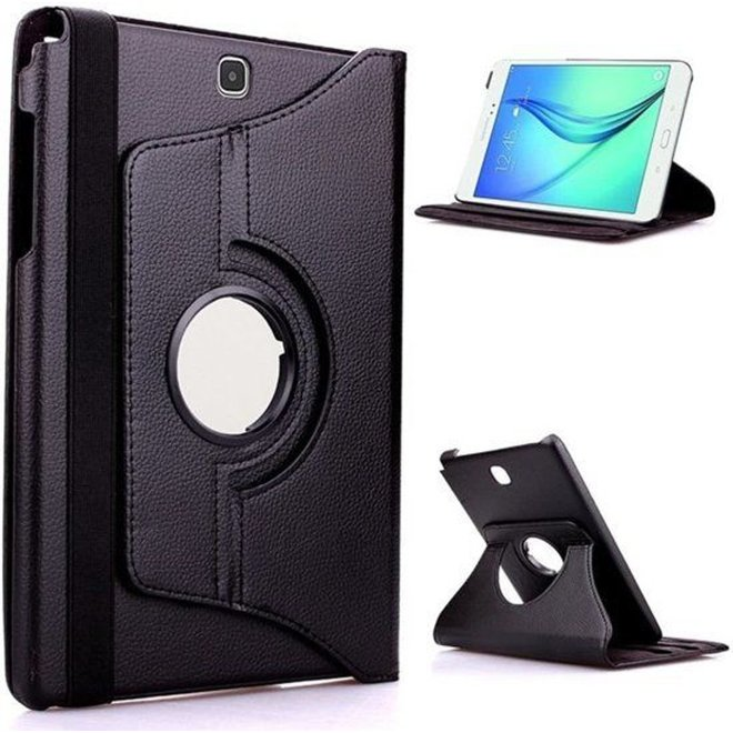 Samsung Galaxy Tab A 9.7 T550 Hoes Cover 360 graden draaibare Case - zwart