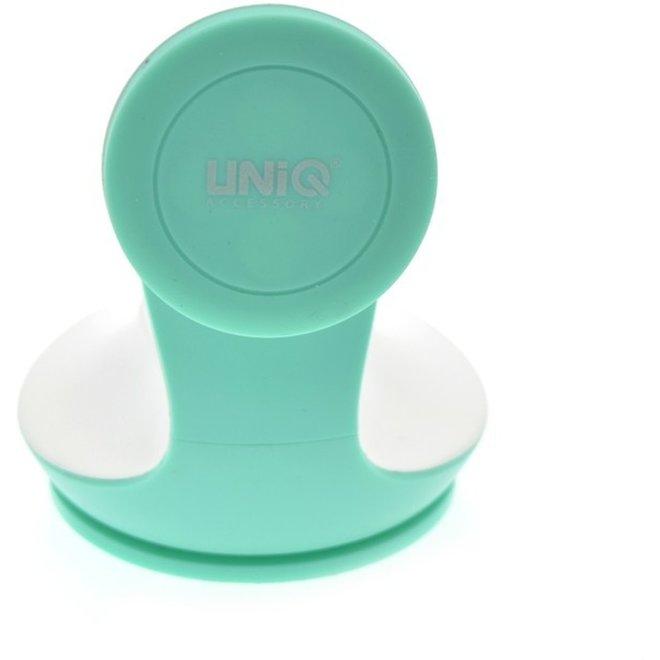 UNIQ Accessory - Hoge kwaliteit magneet telefoonhouder voor in de auto- Past bij elke smartphone ! Mintgroen - Wit
