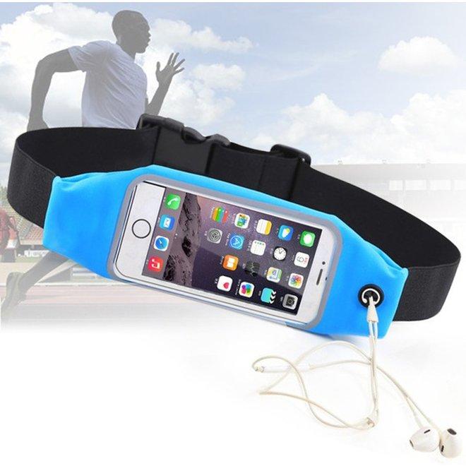 Waterproof running belt/wterproof sport band/ waistband/ sport heupband iPhone 6 / 7 / 8. Blauw