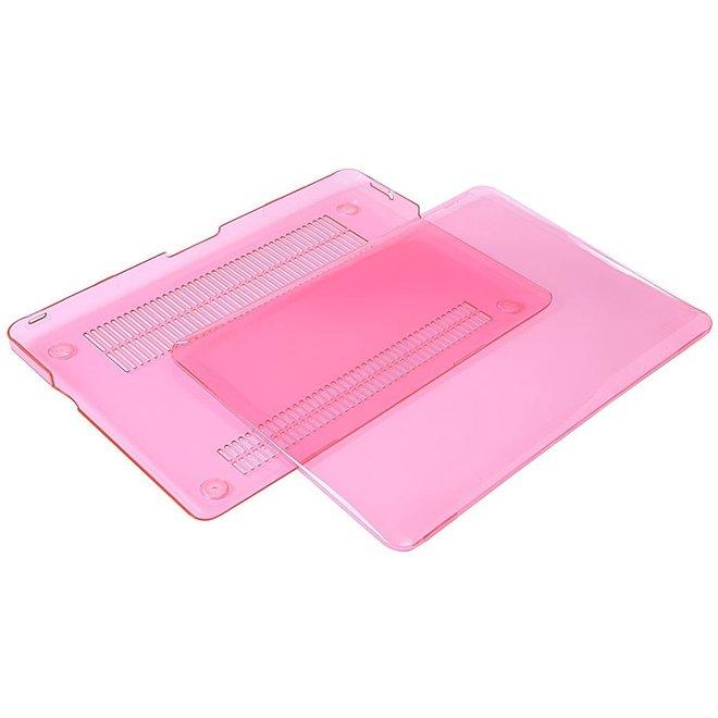 Macbook Case voor MacBook Pro Retina 15 inch 2014 /2015 - Laptoptas - Clear Hardcover - Pink
