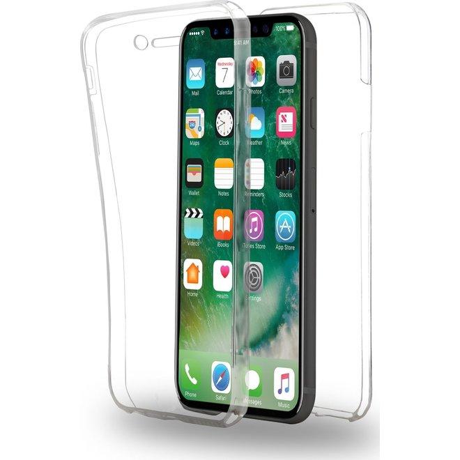 Hoesje voor Apple iPhone X - 360 graden Full Cover - TPU - Transparant