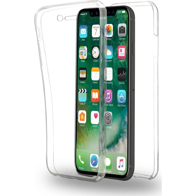 Hoesje voor Apple iPhone X - 360° Full Cover - TPU - Transparant