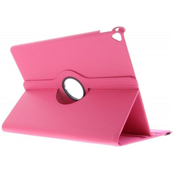360° Draaibare Bookcase iPad Pro 12.9 (2017) tablethoes - Roze
