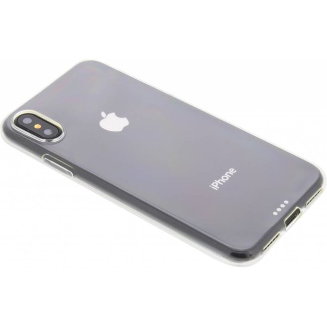 Softcase Backcover iPhone X / Xs hoesje - Transparant