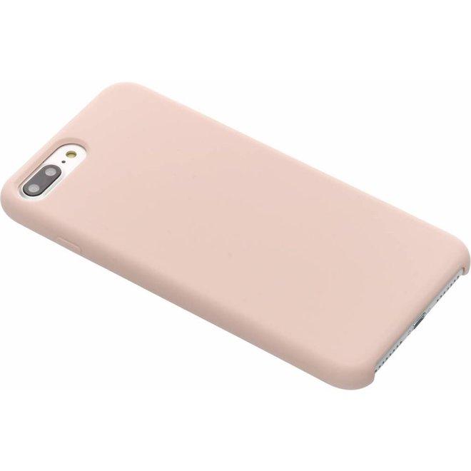Roze soft touch siliconen case voor de iPhone 8 Plus / 7 Plus