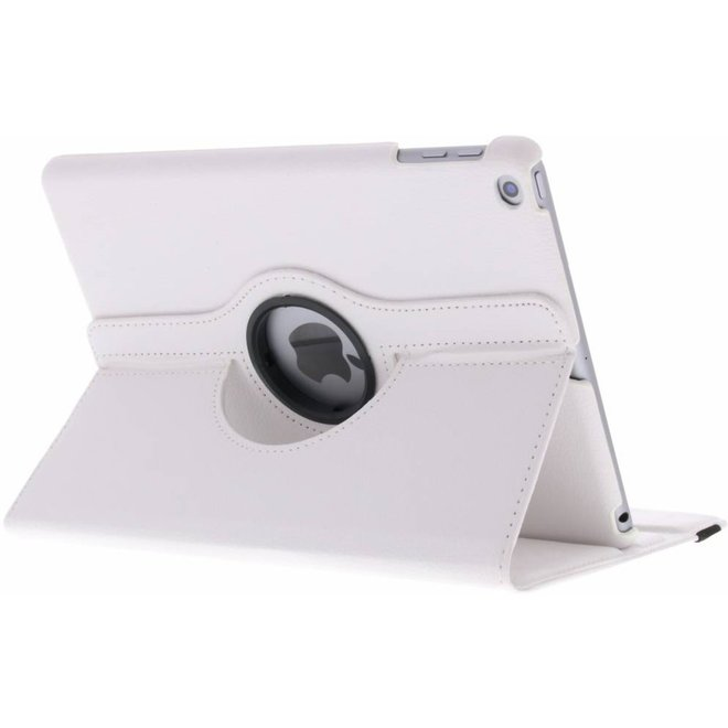 360 graden Draaibare Bookcase iPad (2017) / (2018) tablethoes - Wit