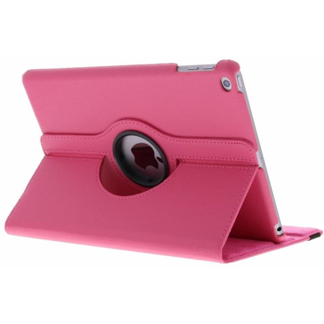 360° Draaibare Bookcase iPad (2017) / (2018) tablethoes - Roze