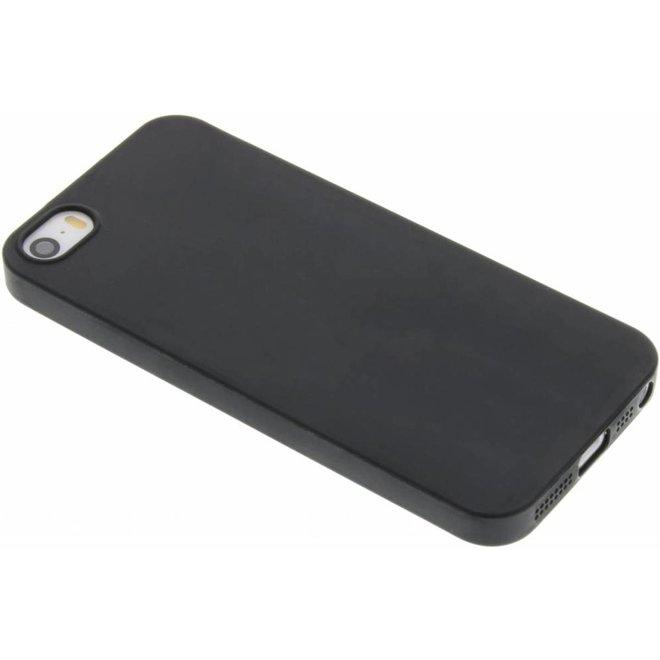 Zwart Color TPU hoesje iPhone 5 / 5s / SE