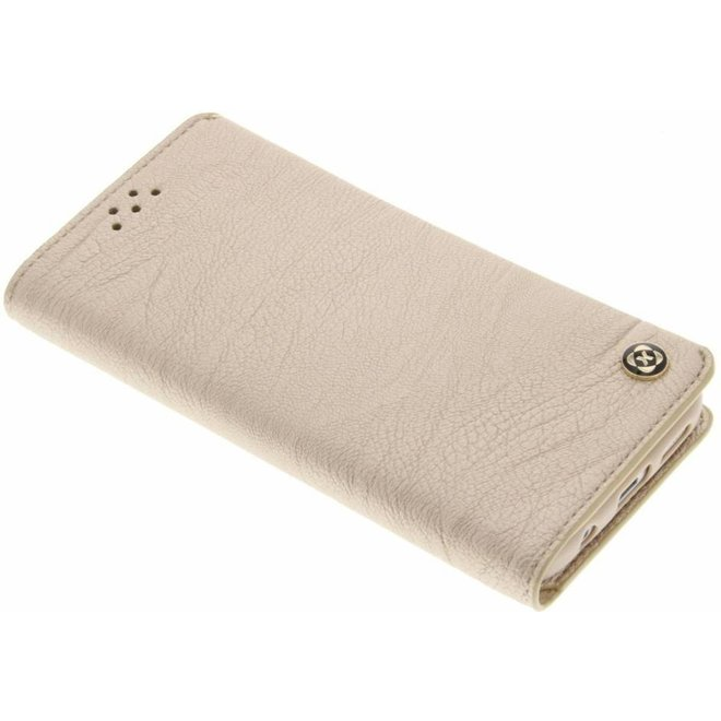 Goud Wallet TPU booktype hoes Samsung Galaxy S7 (G930)
