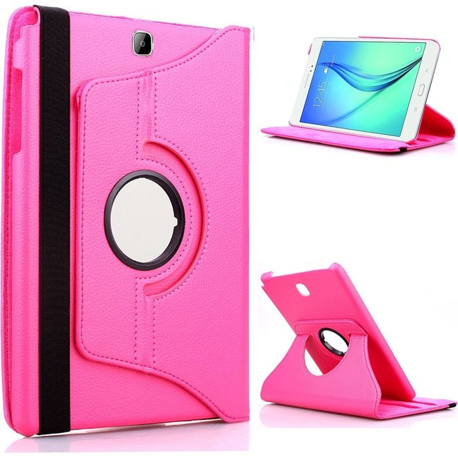Samsung Galaxy Tab S2 9.7 Inch Hoes Cover 360 graden draaibare Case donker roze