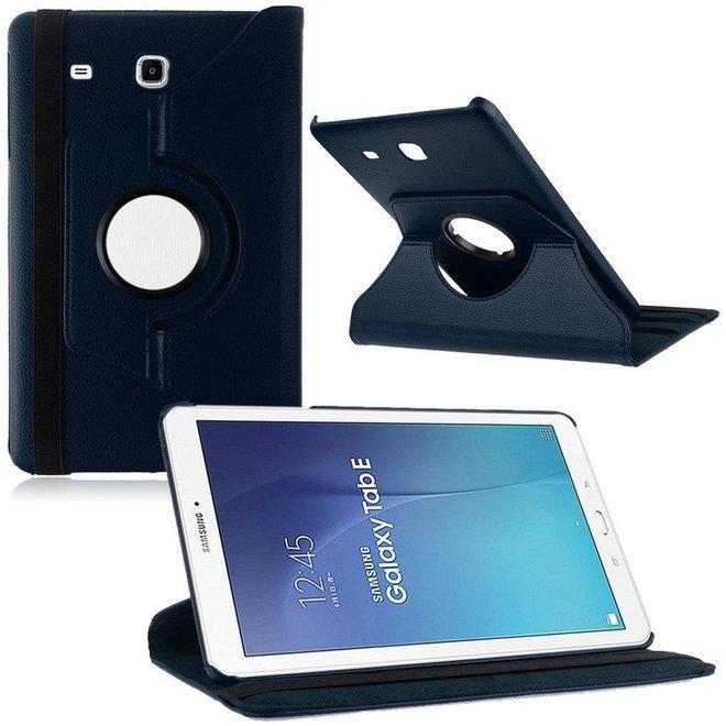 Samsung Galaxy Tab E 9.6 Inch Hoes Cover 360 graden draaibare Case - Blauw
