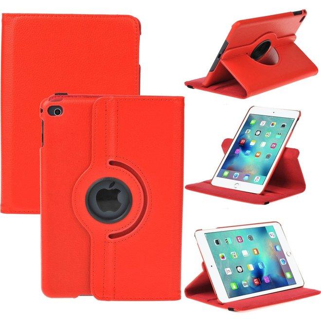 iPad Mini 4 Hoes Cover 360 graden Multi-stand Case draaibare rood