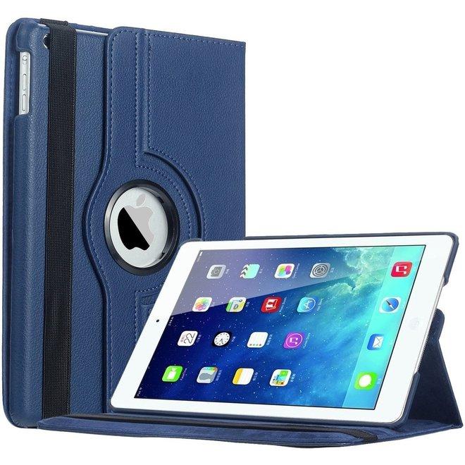 iPad Air 2 hoes 360 graden Multi-stand draaibaar - Donker Blauw