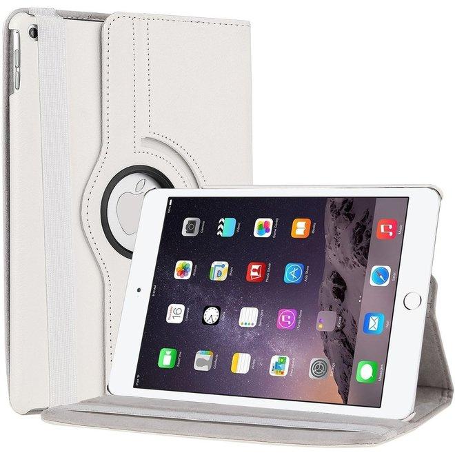 iPad Air 2  hoes 360 graden Multi-stand draaibaar -Wit