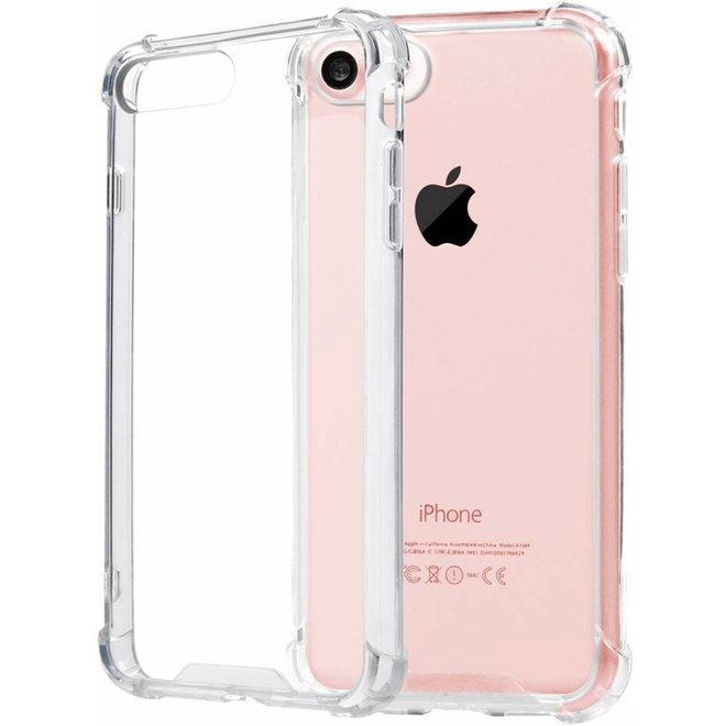 Pearlycase Transparant TPU Siliconen Case backcover Hoesje voor iPhone 8 (verstevigde randen)
