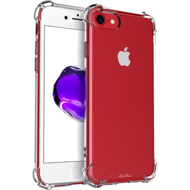 Backcover Shockproof TPU + PC voor Apple iPhone 8/7 Transparant