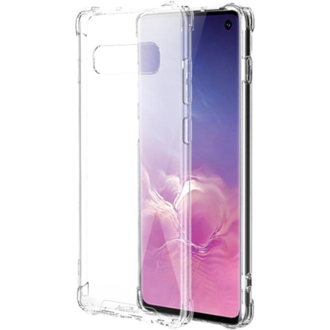 Backcover Anti-Shock TPU + PC voor Samsung S10 Transparant