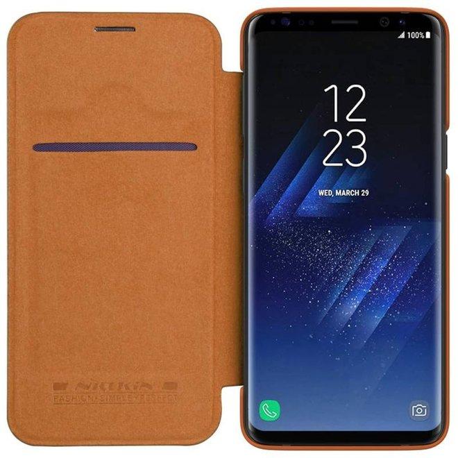 Nillikin Nillkin Bruin Qin Leather slim booktype hoesje voor Samsung Galaxy S9+
