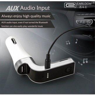 xlmobiel.nl Earldom Bluetooth Stereo FM Transmitter - Voor Bellen & Muziek in de Auto - M7 Zwart