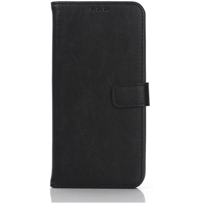 Vintage book cover wallet hoesje Samsung Galaxy S7 Edge black (G935)